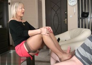 Ala entices her boy with nylons then..