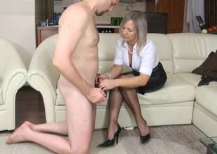female dominance hand-job