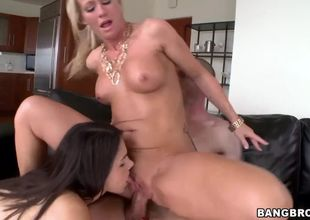 Cougar simone sonay threeway with..