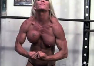 sport cougar works out bare-chested