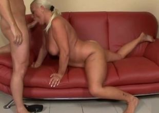 Huge-titted Grannie Buttfuck