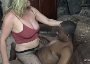 Blondes getting smashed by a big black..