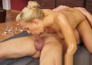 greasy nuru rubdown hook-up with Carla..