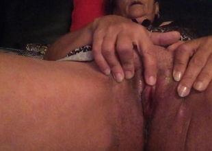 French Mature Nadine getting off