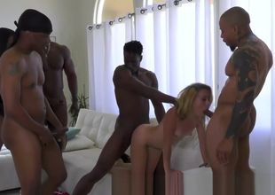 Blondie honey gets gang-fucked
