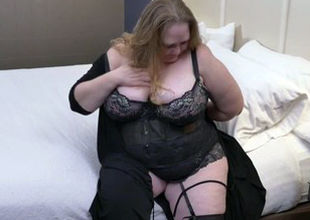 Enormous huge-chested mom with thirsty..