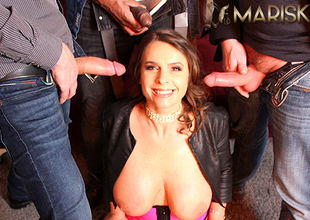 MARISKAX Multiracial gang-bang with..