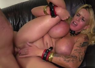 up and blinded huge-titted cougar gimp