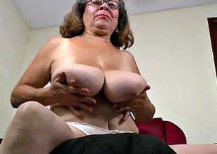 Velvety nylon gets grandma Brenda in..