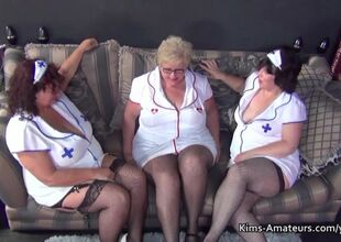 Several bbw grannies near nurses outfits