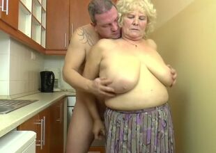 Mr Big Hungarian Granny Kitti fucks on..