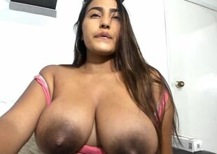 Beauty latina has immense lactating..