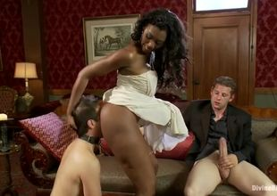 Cool ebony female Nyomi Banxxx, likes..