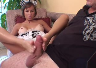 MAID GIVES A FOOTJOB