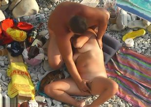 Beach Hidden cam Bra-less Marvelous..